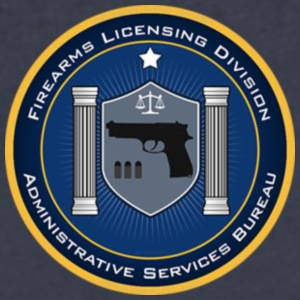 FireArms Licensing Division T-Shirt - Men's V-Neck T-Shirt by Canvas