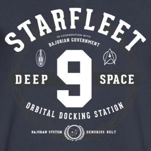 DS9 - Men's V-Neck T-Shirt by Canvas