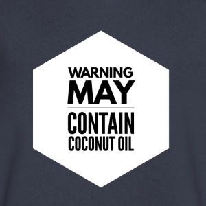 May Contain Coconut Oil 2 - Keto Diet - Men's V-Neck T-Shirt by Canvas