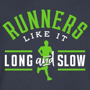 Runners Like It Long And Slow - Men's V-Neck T-Shirt by Canvas