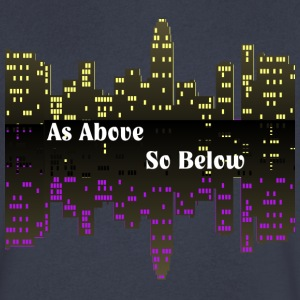 As Above So Below - Men's V-Neck T-Shirt by Canvas