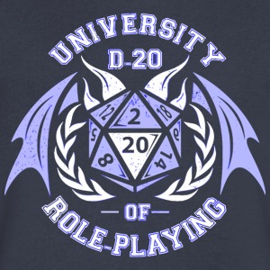 University of Roleplaying - Men's V-Neck T-Shirt by Canvas