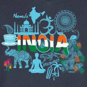Welcome to India T Shirt - Men's V-Neck T-Shirt by Canvas