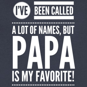 Papa is my favorite - Men's V-Neck T-Shirt by Canvas