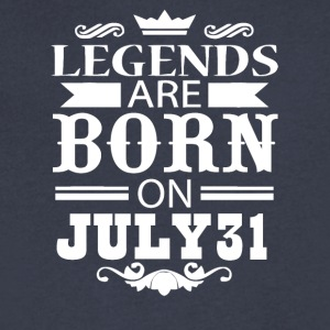 Legends are born on July 31 - Men's V-Neck T-Shirt by Canvas