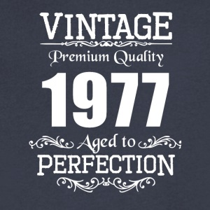 Vintage Premium Quality 1977 Aged To Perfection - Men's V-Neck T-Shirt by Canvas