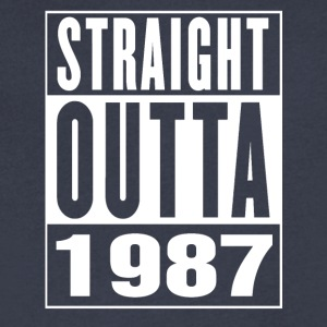 Straight Outa 1987 - Men's V-Neck T-Shirt by Canvas