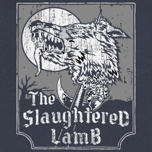 The Slaughtered Lamb vectorized - Men's V-Neck T-Shirt by Canvas