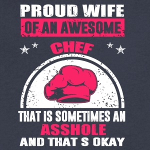 Proud Wife Chef - Men's V-Neck T-Shirt by Canvas