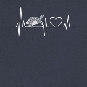 turtle heartbeat shirt - Men's V-Neck T-Shirt by Canvas