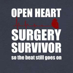 openheart surgery survivor - Men's V-Neck T-Shirt by Canvas