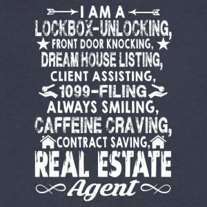 Real Estate Agent Shirts - Men's V-Neck T-Shirt by Canvas
