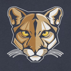 Mountain Lion Shirt - Men's V-Neck T-Shirt by Canvas