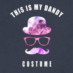 costume dandy Beard Hut carneval hipster moustache - Men's V-Neck T-Shirt by Canvas