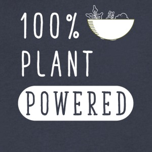 100% plant powered - Men's V-Neck T-Shirt by Canvas