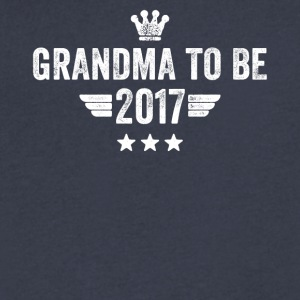 Grandma to be 2017 - Men's V-Neck T-Shirt by Canvas