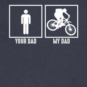 My Dad Loves Bicycling - Men's V-Neck T-Shirt by Canvas