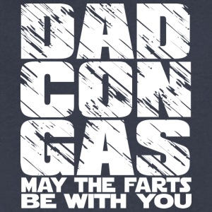 Dad Con Gas - may the fart be with you - Men's V-Neck T-Shirt by Canvas