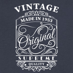Vintage made in 1953 - Men's V-Neck T-Shirt by Canvas