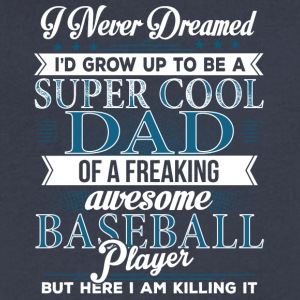 Super Cool Baseball Dad - Men's V-Neck T-Shirt by Canvas