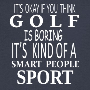 Golf Smart Sport- cool shirt,geek hoodie,tank - Men's V-Neck T-Shirt by Canvas