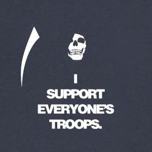 Death supports everyone's troops - Men's V-Neck T-Shirt by Canvas