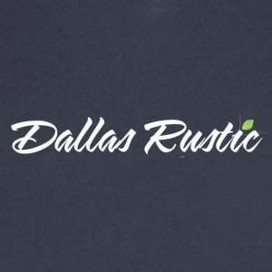 dallas rustic wht - Men's V-Neck T-Shirt by Canvas