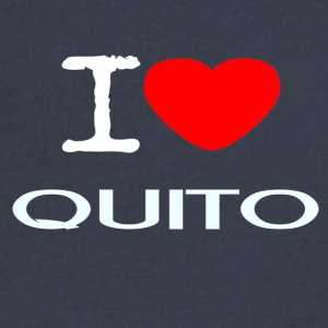 I LOVE QUITO - Men's V-Neck T-Shirt by Canvas