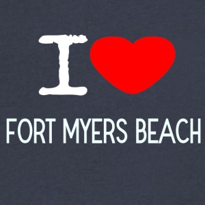 I LOVE FORT MYERS BEACH - Men's V-Neck T-Shirt by Canvas