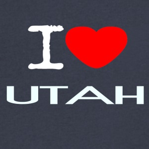 I LOVE UTAH - Men's V-Neck T-Shirt by Canvas