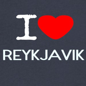 I LOVE REYKJAVIK - Men's V-Neck T-Shirt by Canvas
