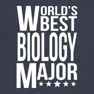 World's Best Biology Major - Men's V-Neck T-Shirt by Canvas
