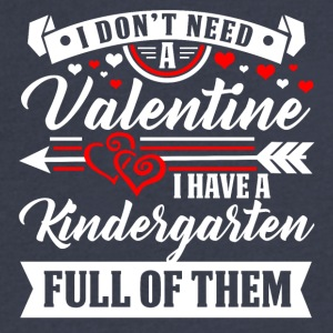 KINDERGARTEN-Valentine T-Shirt and Hoodie - Men's V-Neck T-Shirt by Canvas