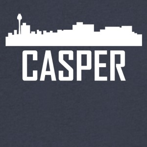 Casper Wyoming City Skyline - Men's V-Neck T-Shirt by Canvas