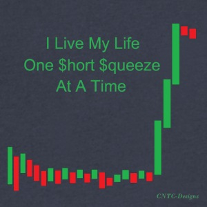I live my life one short squeeze at a time - Men's V-Neck T-Shirt by Canvas