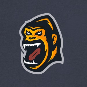 GORILLA MASCOT - Men's V-Neck T-Shirt by Canvas