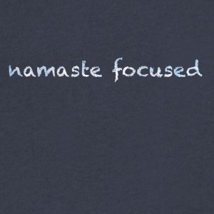 namaste focused clouds - Men's V-Neck T-Shirt by Canvas