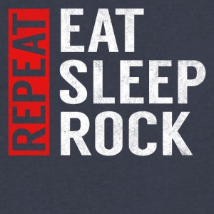 Eat Sleep Rock Repeat Funny Musician Guitarist Gag - Men's V-Neck T-Shirt by Canvas
