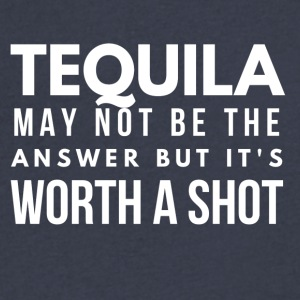 Tequila - worth a shot - Men's V-Neck T-Shirt by Canvas