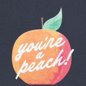 You're a Peach - Men's V-Neck T-Shirt by Canvas