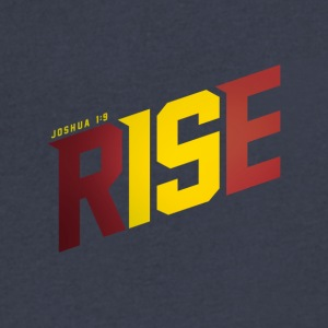 RISE (Joshua 1:9) - Men's V-Neck T-Shirt by Canvas
