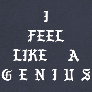 I FEEL LIKE A GENIUS - Men's V-Neck T-Shirt by Canvas