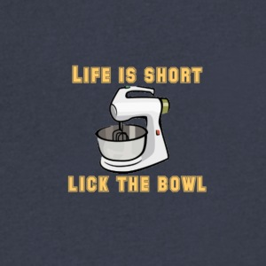 life is short - Men's V-Neck T-Shirt by Canvas
