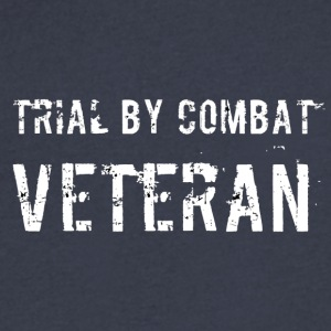 Trial By Combat Veteran - Men's V-Neck T-Shirt by Canvas