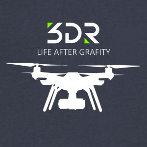 3DR DRONE SOLO - Men's V-Neck T-Shirt by Canvas