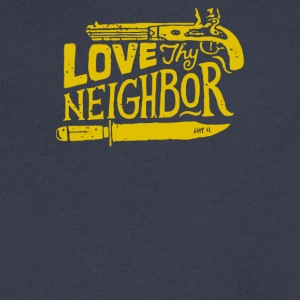 Love they neighbor - Men's V-Neck T-Shirt by Canvas