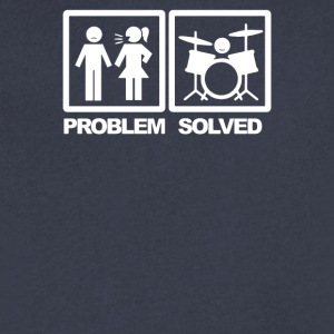 Problem Solved Drum - Men's V-Neck T-Shirt by Canvas