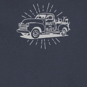 Rust or Bust - Men's V-Neck T-Shirt by Canvas