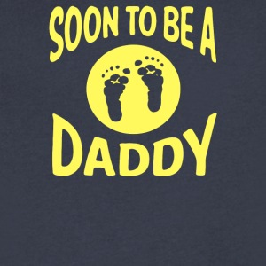 Soon To Be A Daddy - Men's V-Neck T-Shirt by Canvas