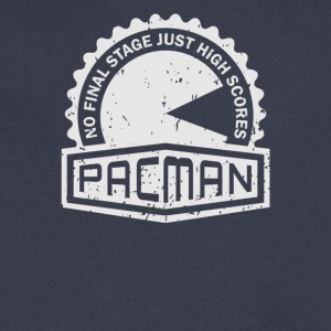 PacMan Crest - Men's V-Neck T-Shirt by Canvas